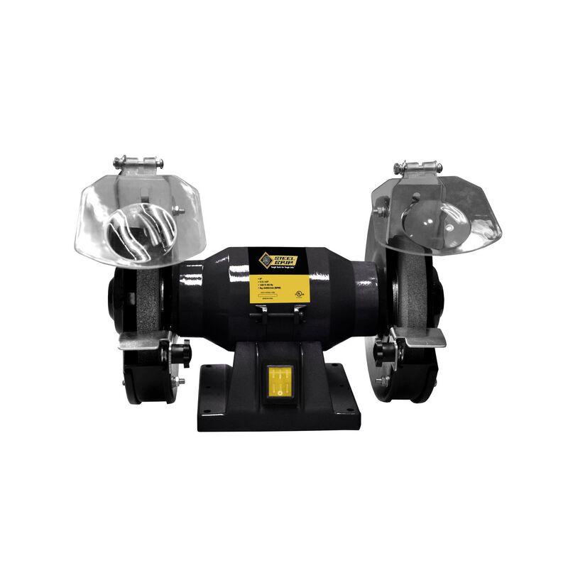 Groovy Steel Grip 6 In Bench Grinder 1 3 Hp 1 1 Amps 3450 Rpm Inzonedesignstudio Interior Chair Design Inzonedesignstudiocom