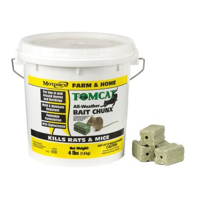 Motomco Tomcat Rodent Bait For Rats Mice 4 lb.