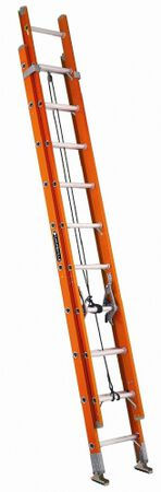 16 ft Louisville FE3216 Fiberglass Extension Ladder, Type IA, 300 lb Load Capacity