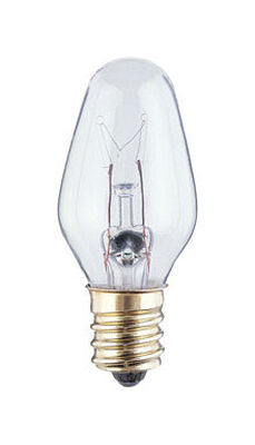 Westinghouse Incandescent Light Bulb 7 watts 43 lumens 2700 K C7 White (Clear) Candelabra Base (