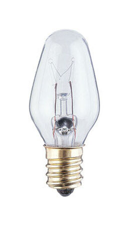 Westinghouse Incandescent Light Bulb 7 watts 43 lumens 2700 K C7 White (Clear) Candelabra Base (