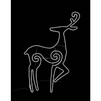 Star Bright LED Neon Looking Deer Silhouette White Metal/Plastic 1 pk
