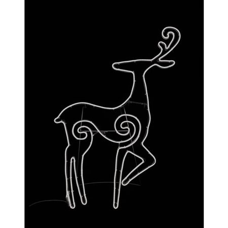 Star Bright LED Neon Looking Deer Silhouette White Metal/Plastic 1 pk