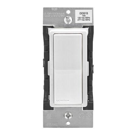 Leviton 15 amps Decora Bluetooth Wireless Light Switch 3 poles 1 pk