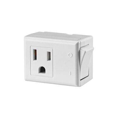 Leviton Grounded Switch Tap Adapter White 15 amps 125 volts 1 pk