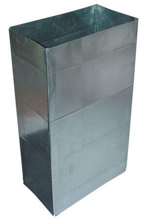 Deflect-O Jordan 3-1/4 in. Dia. x 24 in. L Galvanized Steel Duct Metallic