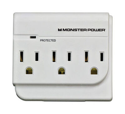 Monster Just Power It Up 3 outlets Surge Tap White