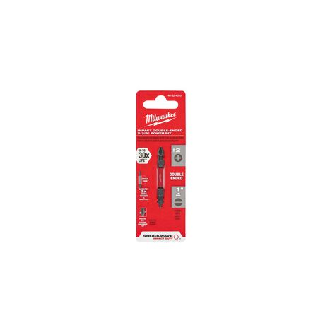 Milwaukee SHOCKWAVE Phillips/Slotted PH2/SL1-4 x 2-3/8 in. L Impact Double-Ended Power Bit Ste