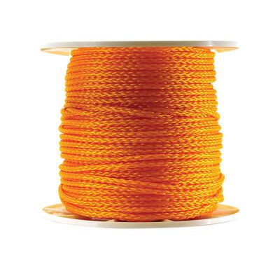 Wellington 3/8 in. Dia. x 600 ft. L Twisted Poly Rope Orange