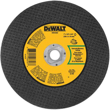 DeWalt High Performance Masonry Cutting Saw Blade 7 in. Dia. x 1/8 in. thick x 5/8 in.