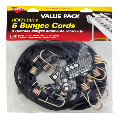 Keeper Corporation Keeper Bungee Cord Set 0 lb. 6 pk