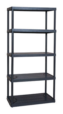 Maxit 72 in. H x 36 in. W x 18 in. D Black Plastic Solid Plastic Shelving 750
