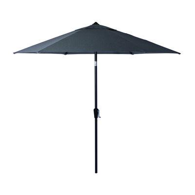 Living Accents Biltmore 9 ft. Tiltable Gray Market Umbrella