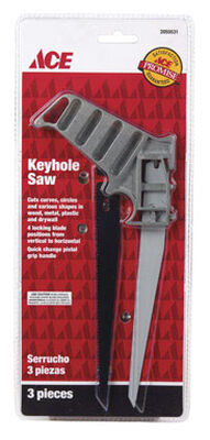 Ace Keyhole Saw 7 in. L Metal