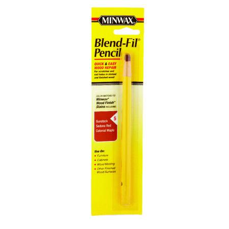 Minwax Blend-Fil No. 5 Wood Wood Pencil Colonial Maple Gunstock Sedona Red