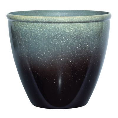 Suncast Modern Brown/Gray Resin Modern Planter 14 in. H x 16 in. W x 16 in. L