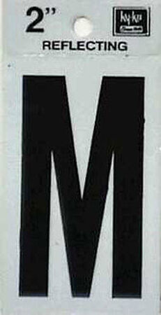 Hy-Ko Self-Adhesive Black 2 in. Reflective Vinyl Letter M