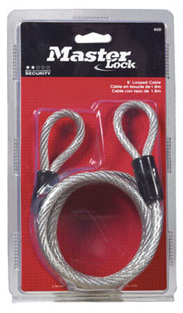 Master Lock 1/4 in. Dia. x 72 in. L Vinyl Coated Coiled Cable Steel