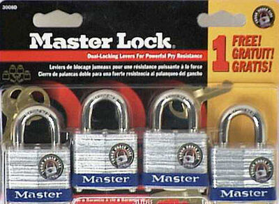 Master Lock 1-1/2 in. Keyed Alike Double Locking Laminated Steel Padlock