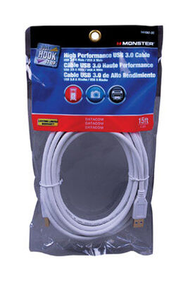 Monster 15 ft. L White USB Cable