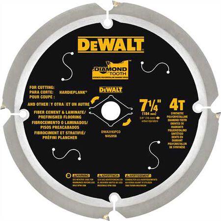 "7 1/4"" Fiber Cement 4T PCD Blade"