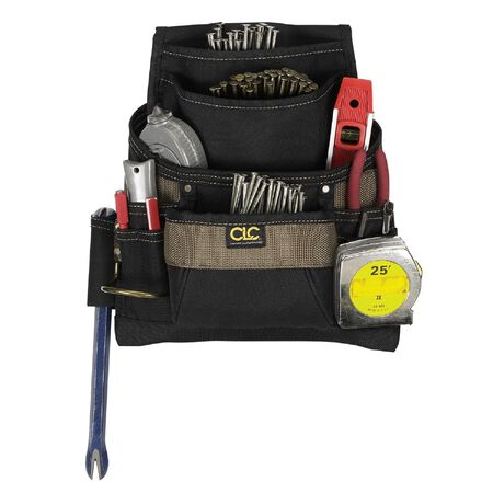 CLC Polyester Nail & Tool Bag 13 in. H 11 outside pockets