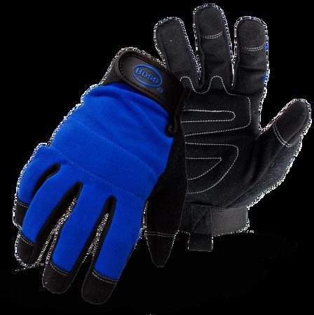 Glove Utility Spandex Blue L