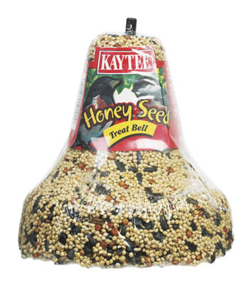 Kaytee Honey Seed Bell Assorted Species Bird Food Block Millet 1 lb.