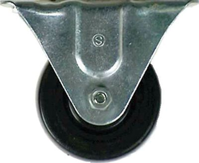 Shepherd Rubber 4 in. Dia. Silver/Black Caster 225 lb. 1 pk