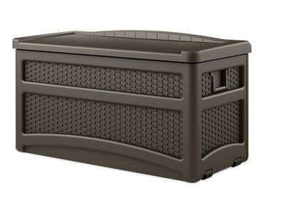 Suncast Deck Box and Seat Plastic 25-1/2 in. H x 46 in. D x 23 in. W