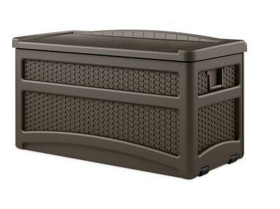 Suncast Deck Box and Seat Plastic 25-1/2 in. H x 46 in. D x 23 in. W