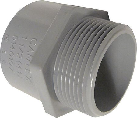 Cantex 1-1/2 in. Dia. PVC Male Adapter
