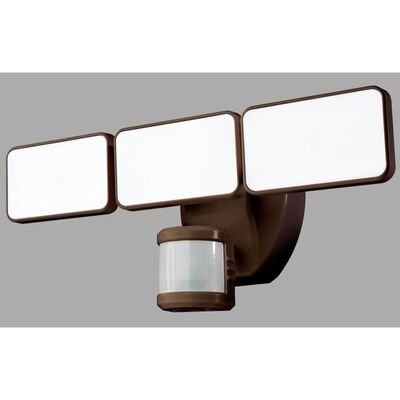 Heath Zenith Bronze Plastic Wired Security Light Motion-Sensing LED 110 volts 35 watts