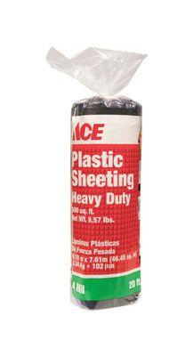 ACE Plastic Sheeting 4 mil x 20 ft. W x 25 ft. L Polyethylene Black