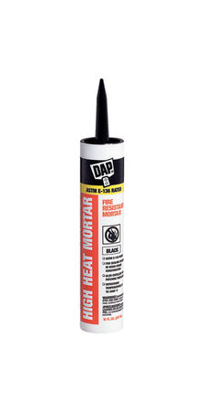 DAP High Heat Mortar Silicate Fireplace & Stove Caulk Black 10.1 oz.