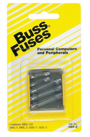 Bussmann Glass Tube Fuse Assorted amps 250 volts multi in. L 5 pk For Personal Computers and Perip