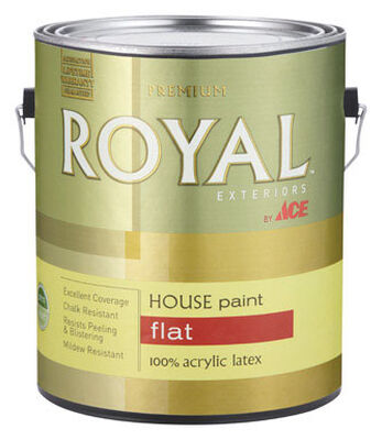 Ace Royal Acrylic Latex House Paint & Primer Flat 1 gal.