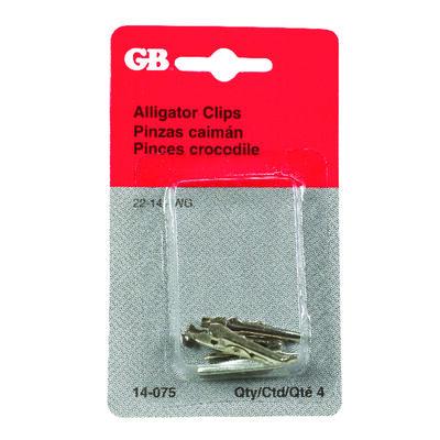 GB Alligator Clips Silver