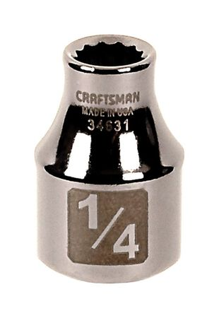 Craftsman 1/4 in. x 3/8 in. drive SAE 12 Point Standard Socket 1 pc.