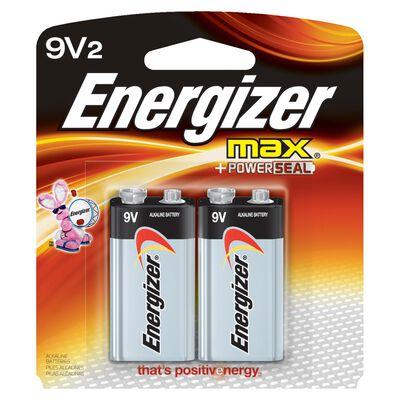 Energizer Max 9V Alkaline Batteries 9 volts 2 pk