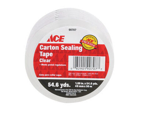 Ace 1.88 in. W x 54.6 yd. L Sealing Tape Clear