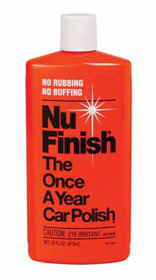 Nu-Finish Liquid Automobile Polish 16 oz. For Use Once A Year