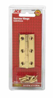 Ace 2-1/2 in. L Narrow Hinge Polished Brass