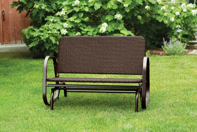 Living Accents 2-Seat Glider Brown