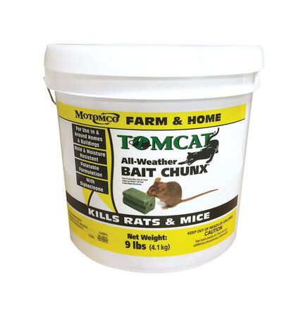 Motomco Tomcat Rodent Bait For Rats Mice 9 lb.