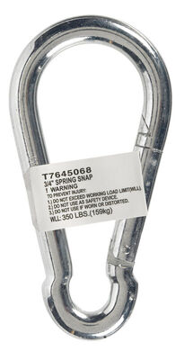 Campbell Chain Zinc Plated Steel Spring Snap Silver 350 lb. 4-3/4 in. L 10 pk