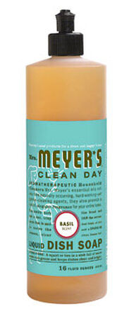 Mrs. Meyer's 16 oz. Basil Scent Liquid Dish Soap
