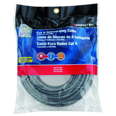 Monster Gray 50 ft. L Networking Cable