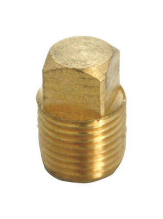 Ace 1/8 in. Dia. x 1/8 in. Dia. Compression To MPT To Compression Yellow Brass Square Head Plug