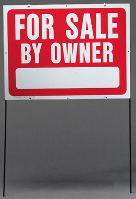 Hy-Ko English 18 in. H x 24 in. W Plastic Sign For Sale by Owner